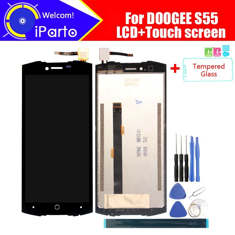 5.5 pouce Doogee S55 LCD Display + Écran Tactile Digitizer Assemblée 100% Original Nouveau LCD + Tactile Digitizer pour S55 + outils
