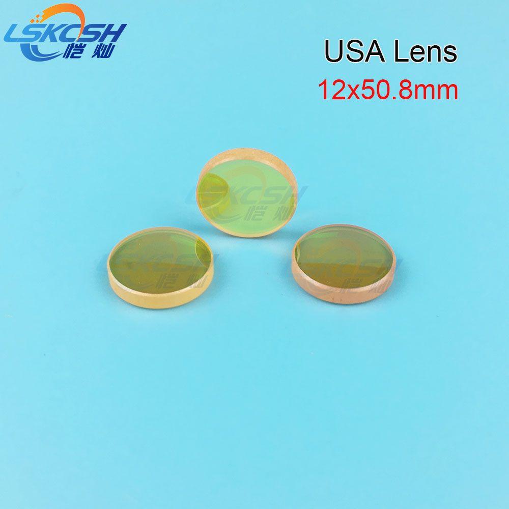 LSKCSH USA CVD ZnSe fokus Objektiv Durchmesser, 12mm FL 50,8mm 2 ''für Co2 laser stempel gravur maschinen K40 40 watt 300*200mm großhandel