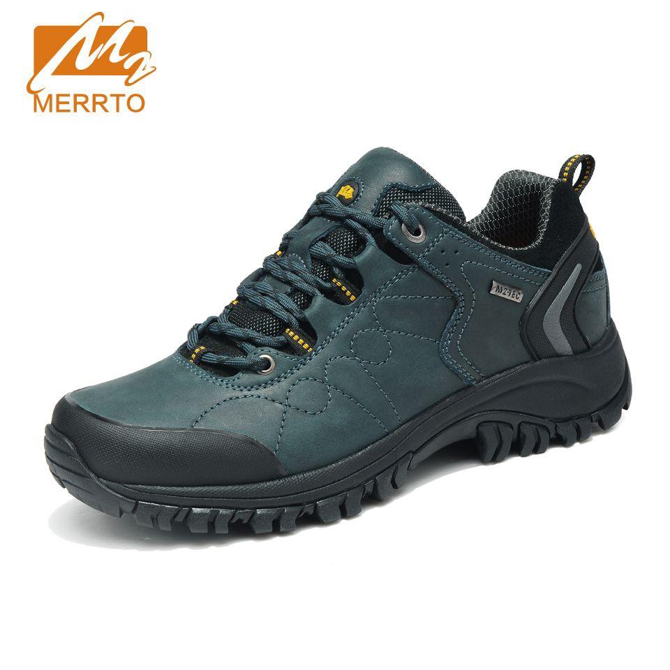 MERRTO 2018 Waterproof Hiking Shoes Men Sports Sneakers Men Women Genuine Leather Hiking Boots Mountain Trekking Shoes Sneakers