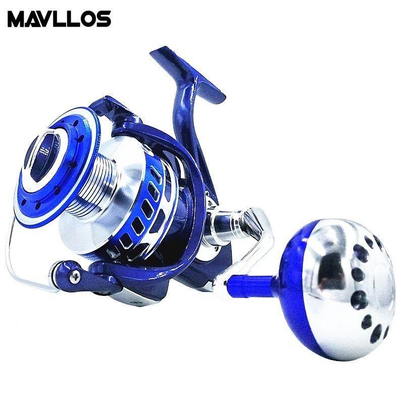 Mavllos Max Drag 30kg Slow Jigging Fishing Reel 6000 9000 Saltwater Surf Spinning Reel Sea Waterproof Jig Boat Fishing Reel Coil
