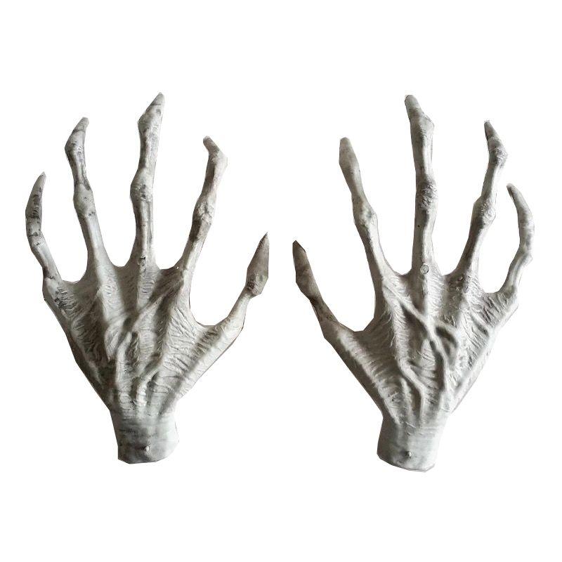 Halloween plastique squelette mains sorcière mains hanté maison échapper horreur accessoires décorations