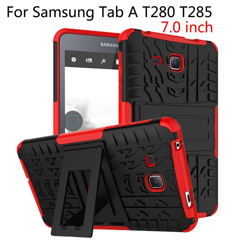 Case For Samsung Galaxy Tab A A6 7.0 inch 2016 T280 T285 Cover Tablet TPU & PC Armor Dazzle Hybrid Armor Kickstand Cases Funda