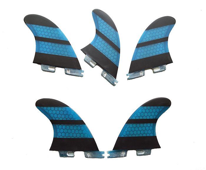 Surf Fins fcs ii K2.1 Quilhas Blue Honeycomb Fins a set of five Surf FCS2 Fins Surfing