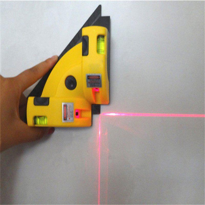 Angle droit 90 Degrés Vertical Horizontal Laser Instrument De Mesure Verticale Calibrateur Niveau Maison bricolage appareil de mesure