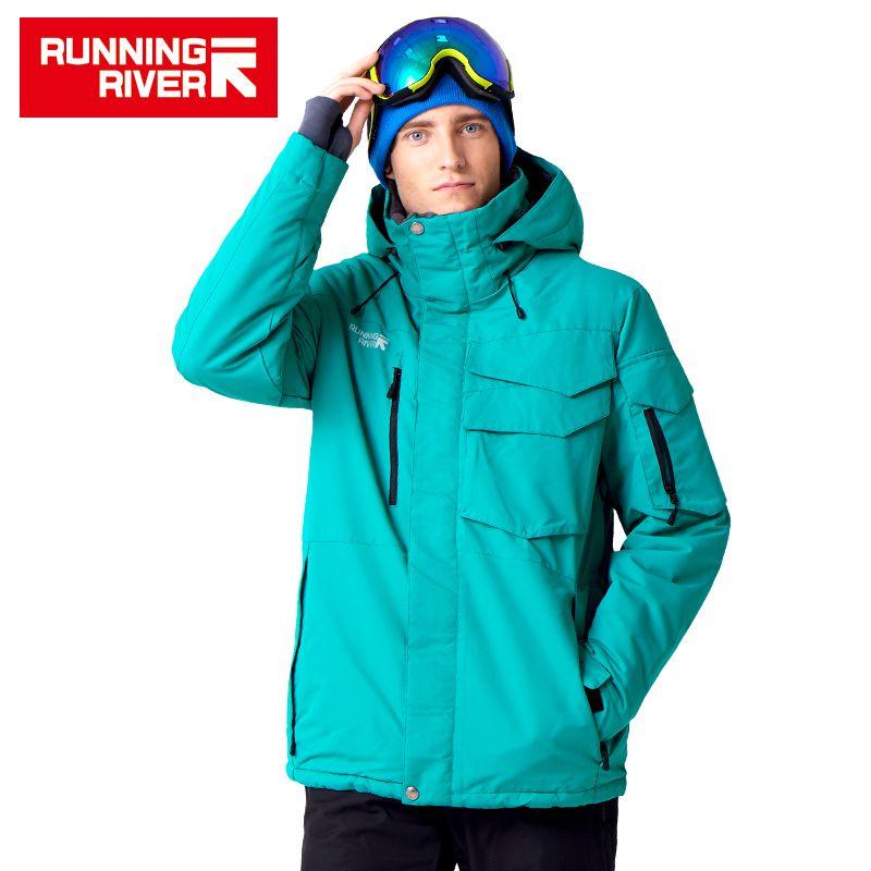 LAUF FLUSS Marke Wasserdichte Jacke Für Männer Ski Anzug Set Männer Snowboard Jacke Männliche Ski Kleidung # A3268