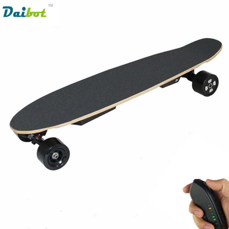 2017 neue Doppelmotor Fernbedienung Elektrisches Skateboard 600 Watt Hoverboard Longboard Samsung Batterie 40 KM/STD 3 Geschwindigkeiten Einstellbar