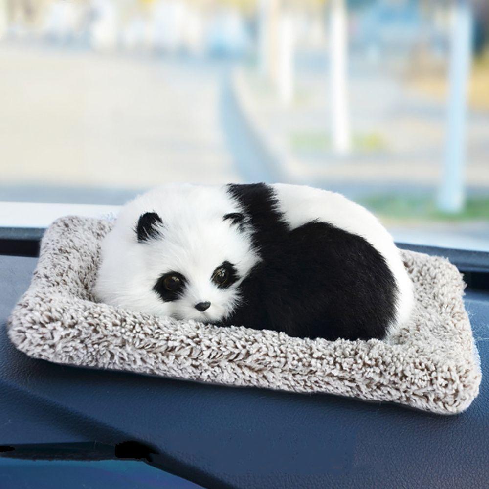 Car Ornament Cute Panda Fox Air Freshener Automotive Interior Dashboard Decoration Bamboo Charcoal Purify Home Furnishing Gifts