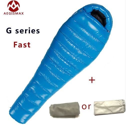 G1/G2/G3 Aegismax Professionelle Ultraleicht outdoor weiße gans Unten winter mummy typ schlafsack
