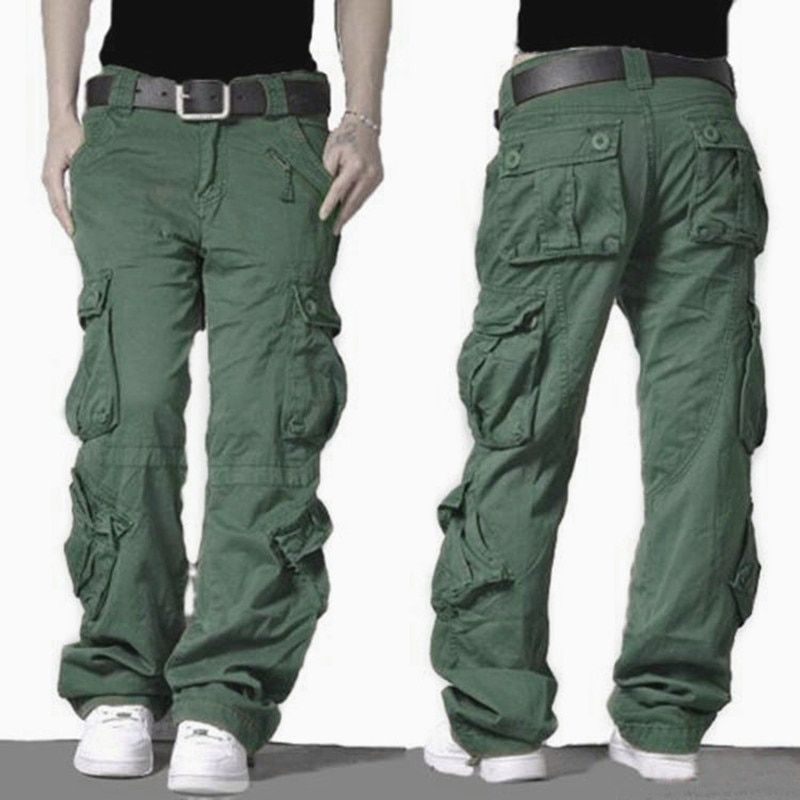 2017 Cargo Pants Mens Army Military Style Tactical Combat Pants High Quality Cotton Trousers Outdoors Casual Baggy Pants For Men