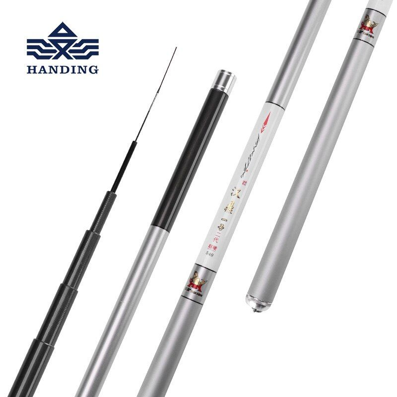 Handing 2.7-7.2m high <font><b>carbon</b></font> fiber telescopic fishing rod Ultra Light Carp Fishing rod Surf Spinning Rod stream/sea fishing rod