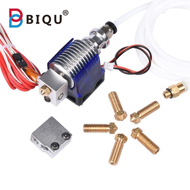 BIQU DIY 2017 3D Printer J-head Hotend With Fan for 1.75/3.0mm 12V 3D V6 bowden Filament Wade Extruder + Volcano Nozzels kossel