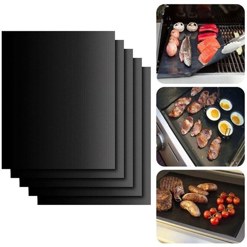 BBQ Mats non-stick Reusable 33*40 cm & 13*15.75 inch 2pcs/lot Barbecue grill Mat sheet Foil liner kitchen accessories supplies