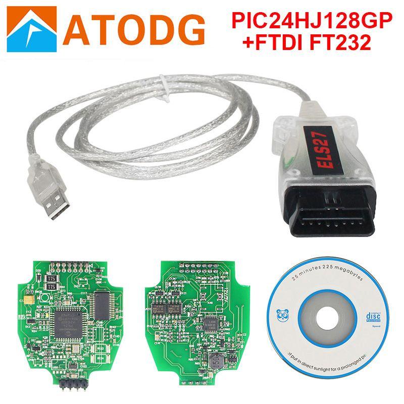 ELS27 FORScan Scanner V2.26 PIC24HJ128GP+FTDI For Mazda/Lincoln/Mercury Vehicles OBD2 Diagnostic Cable Support ELM327 J2534