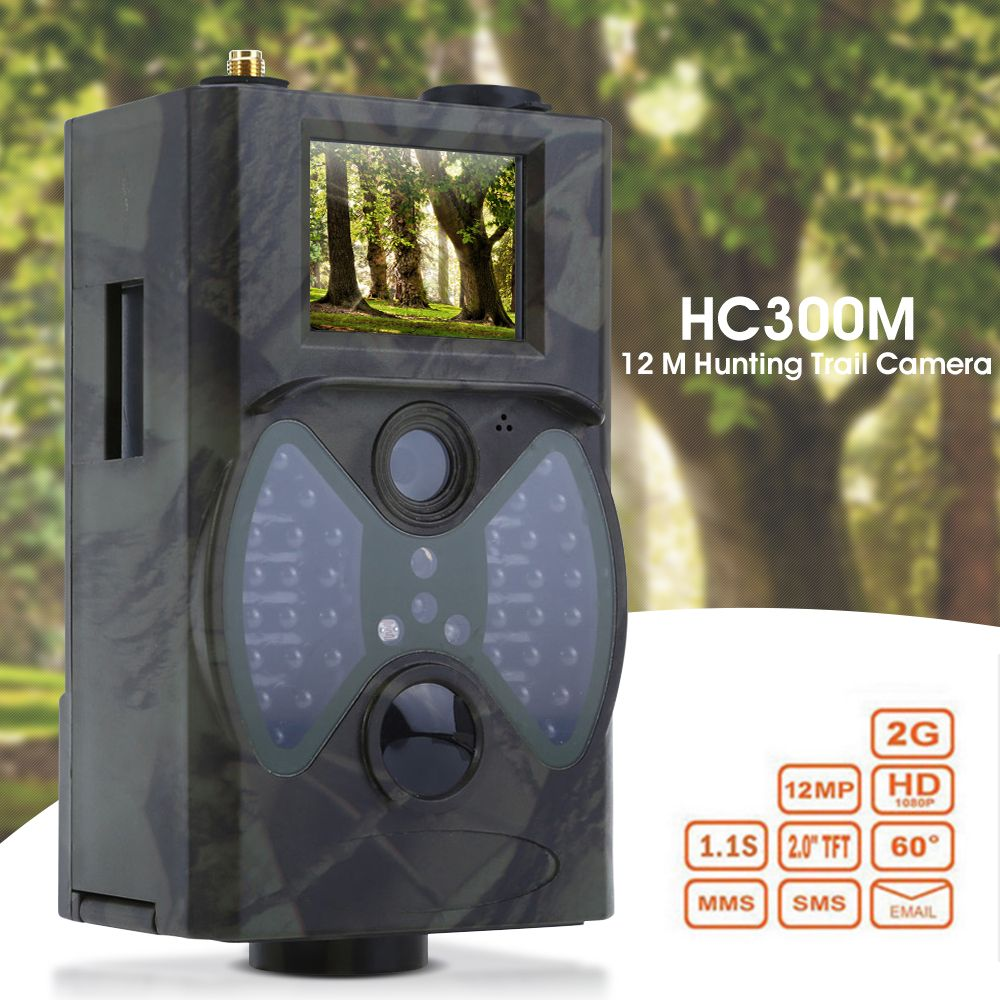 HC300M 12M Hunting Trail Camera HD 1080P Digital Scouting Trail Camera GPRS MMS GSM 940NM Hunting Infrared Night Vision Camera
