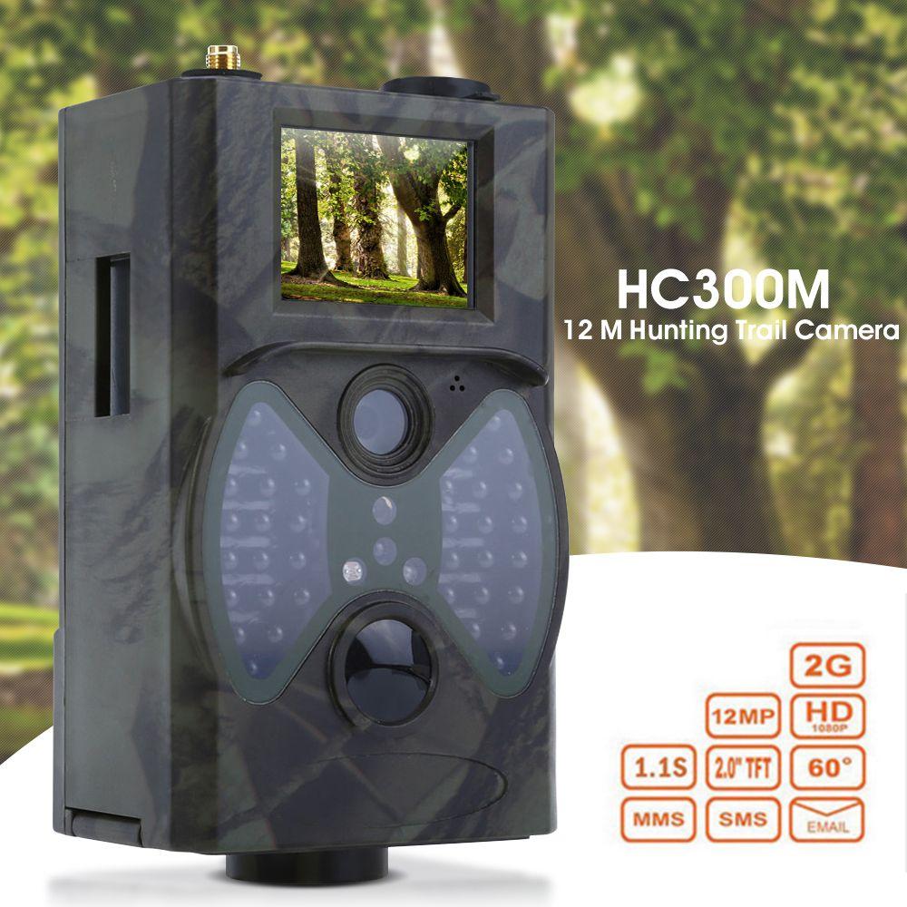 HC300M 12M Hunting Trail Camera HD 1080P Digital Scouting Trail Camera GPRS MMS GSM 940NM Hunting Infrared Night Vision Camera