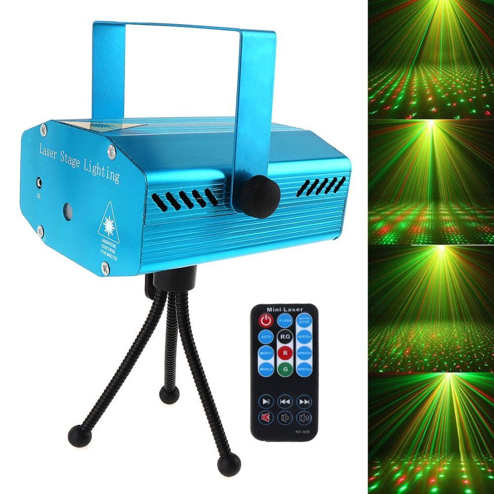 Offre spéciale rouge Mini R & G Auto/voix disco LED dj de noël Laser projecteur de lumière de scène avec télécommande