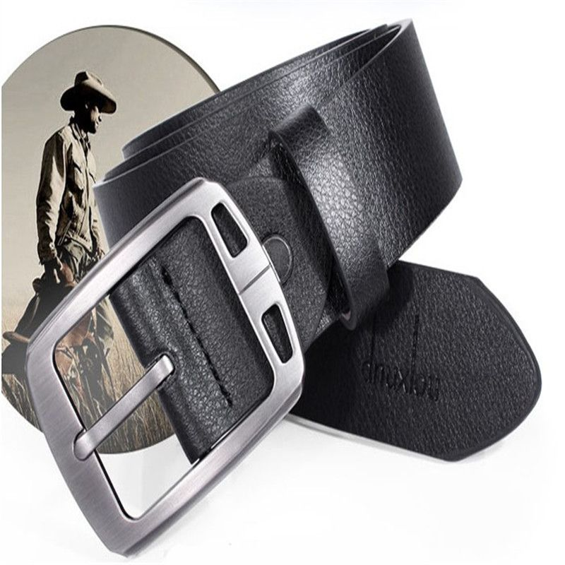 snowshine #3522 New Slim Vintage Classic Jean Pin Buckle Belts Business Casual Black free shipping