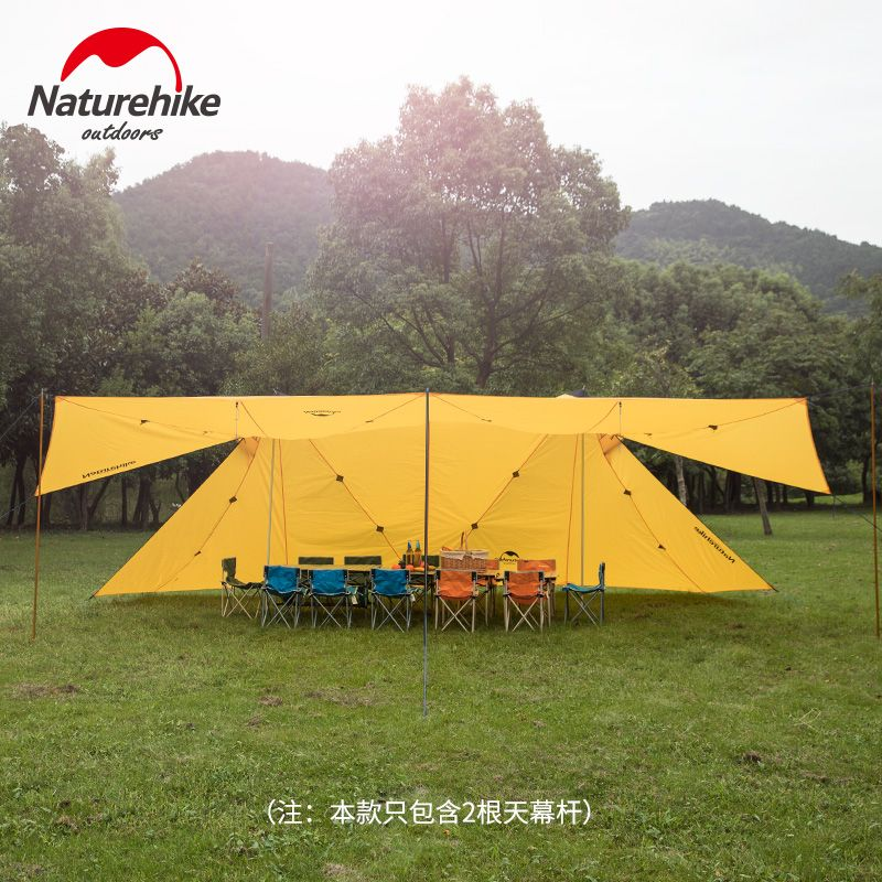 Naturehike Factory sell Outdoor super large 8 person rainproof sunshade canopy tower outdoor twin peaks camping tent awning