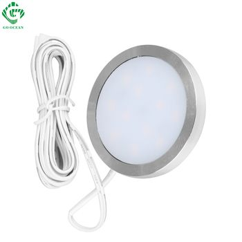 LED Cabinet Light Shelf Showcase Cupboard 12V Closet Lamp Kitchen Showcase Puck Downlight Wardrobe Night Counter Lighting Lamps