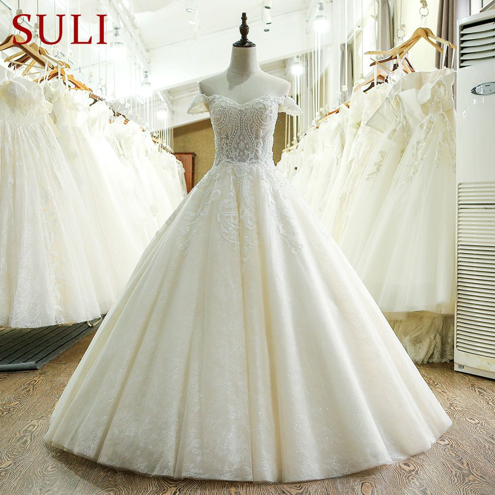 SL-209 Tulle Custom Made 2017 Wedding Dress Lace Made In China