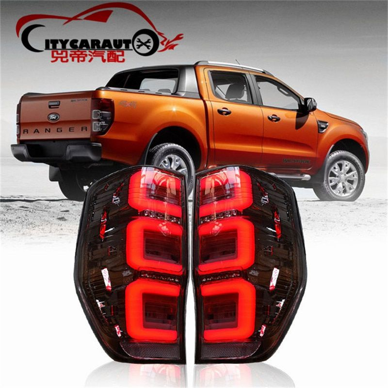 CITYCARAUTO REAR LED TAIL LIGHTS LAMP BACK BRAKE STOPING WORKING LIGHTS TURNING FEATURE FIT FOR RANGER T6 T7 TXL TL 2012-17