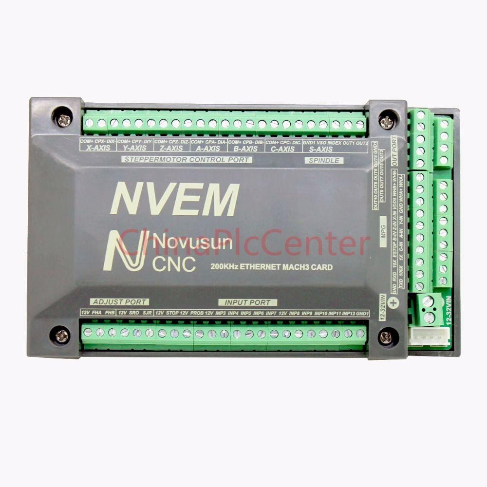 NVUM NVEM CNC Contrôleur 3/4/5/6 Axe MACH3 Ethernet Carte D'interface Carte 200 KHz Pour Moteur pas à pas