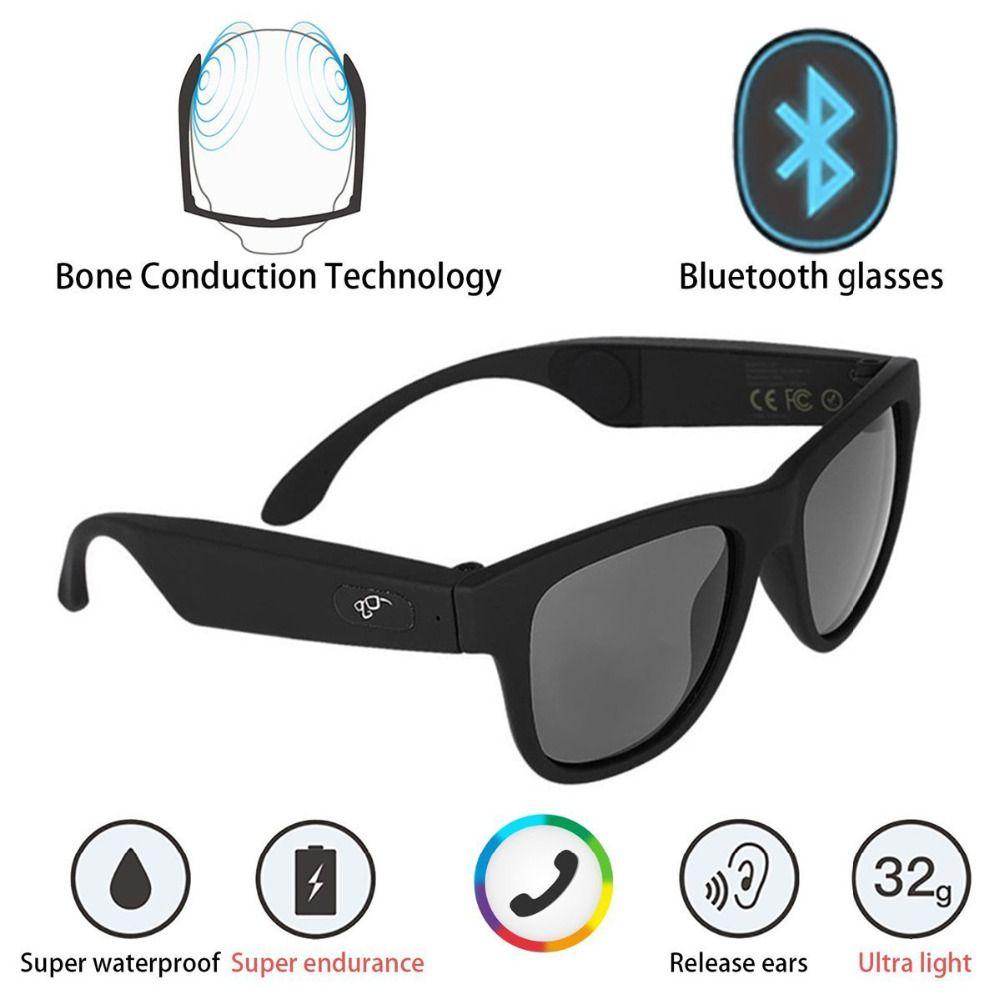 G1 Polarisierte Gläser Knochenleitung Headset Sonnenbrille Bluetooth SmartTouch Stereo Kopfhörer Drahtlose Kopfhörer w/Mikrofon