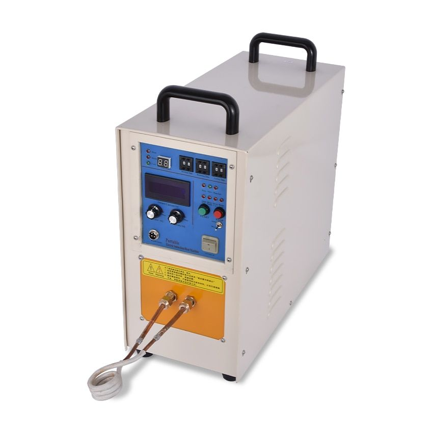 15KW 30-100KHZ High Frequency Induction Heater Machine Quenching Equipment Small Melting Furnace 220v/110v 1-99s 0.2Mpa, 2L/min