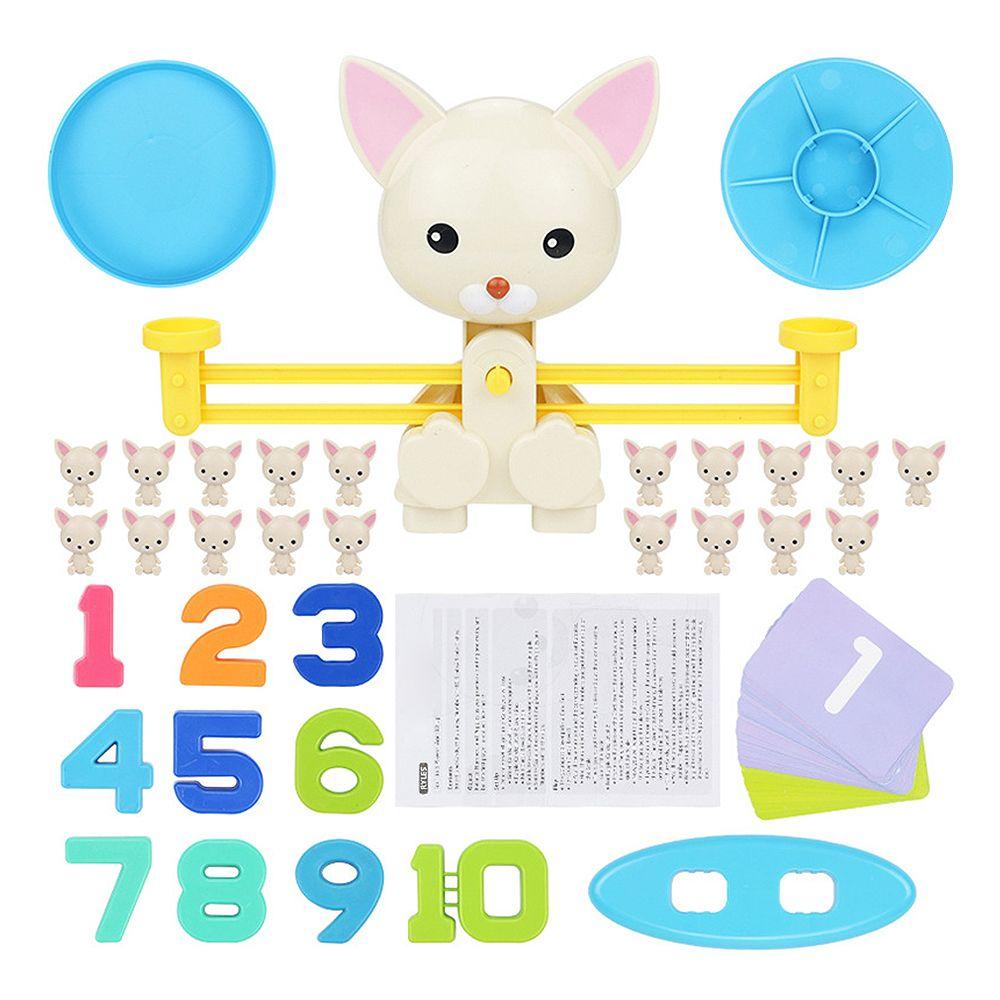 Match de maths jeu de société jouets singe chat Match équilibrage échelle numéro jeu d'équilibre enfants jouet éducatif pour apprendre ajouter et soustraire