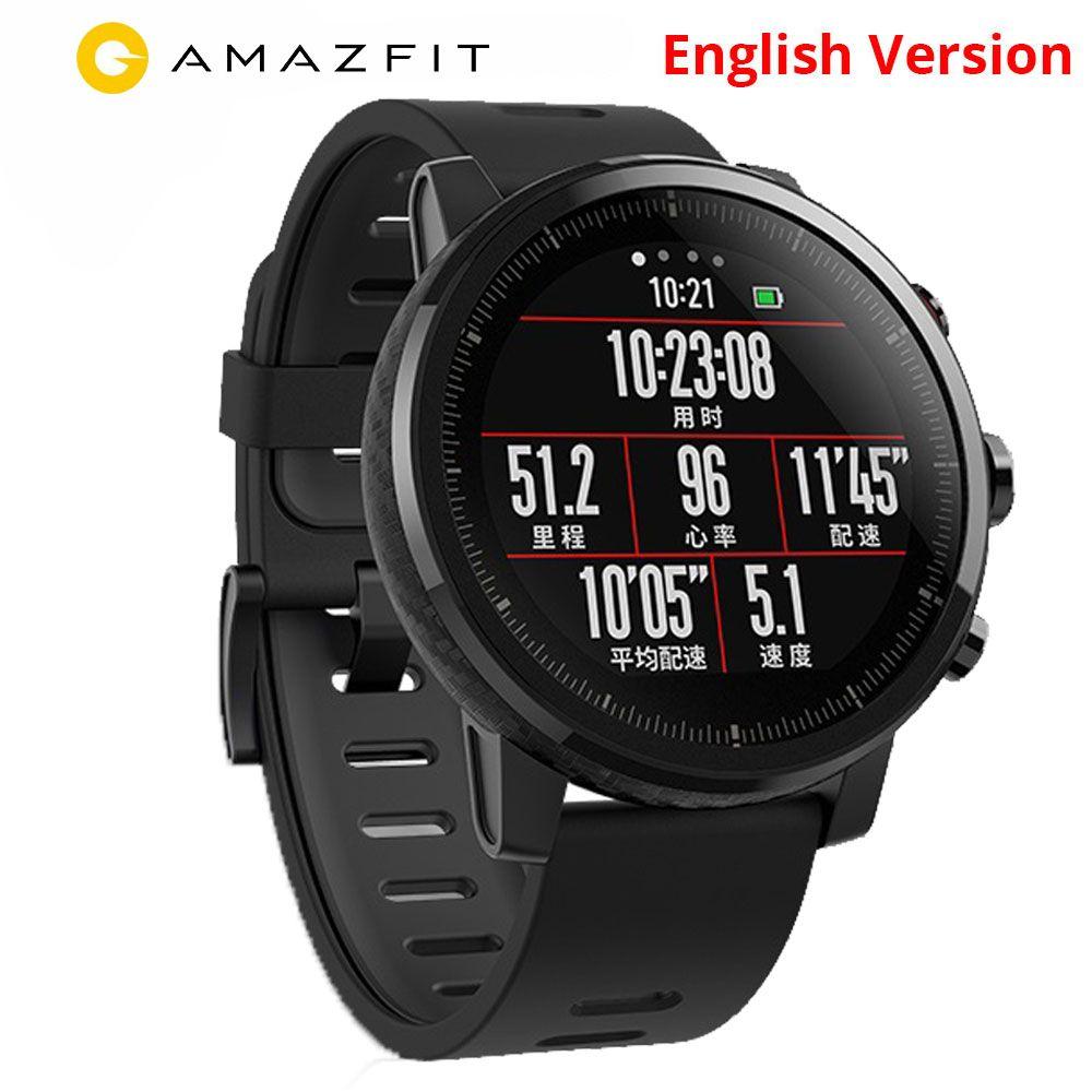 Xiaomi Huami Amazfit Stratos 2 Englisch Version Smart Uhr Mit GPS PPG Herz Rate Monitor 5ATM Wasserdichte Sport Smartwatch