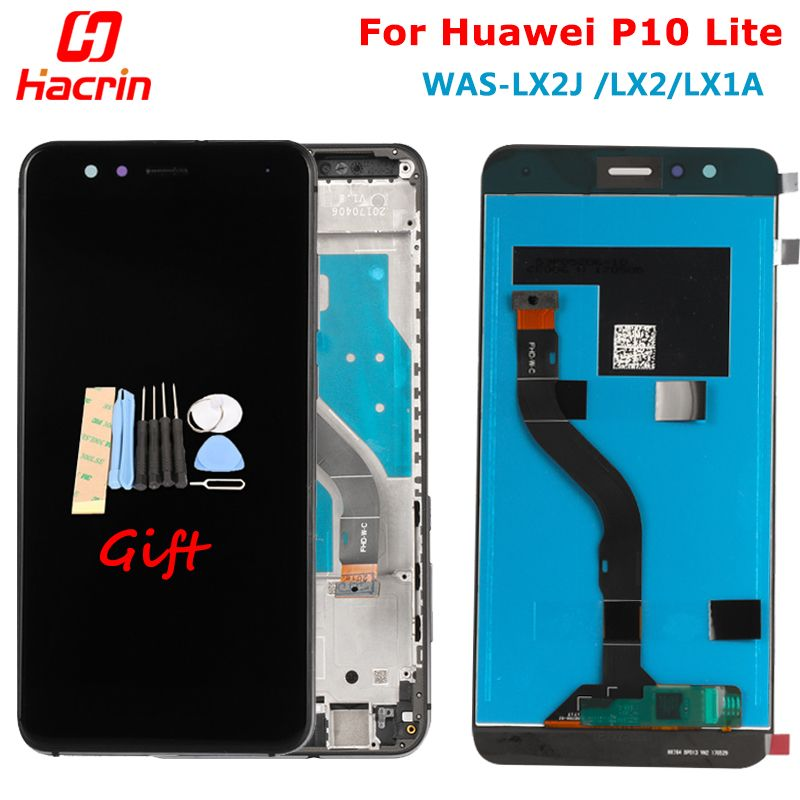 For Huawei P10 Lite LCD Display + Touch Screen Digitizer Assembly Replacement Screen For Huawei P10 Lite WAS-LX2J /LX2/LX1A/LX3