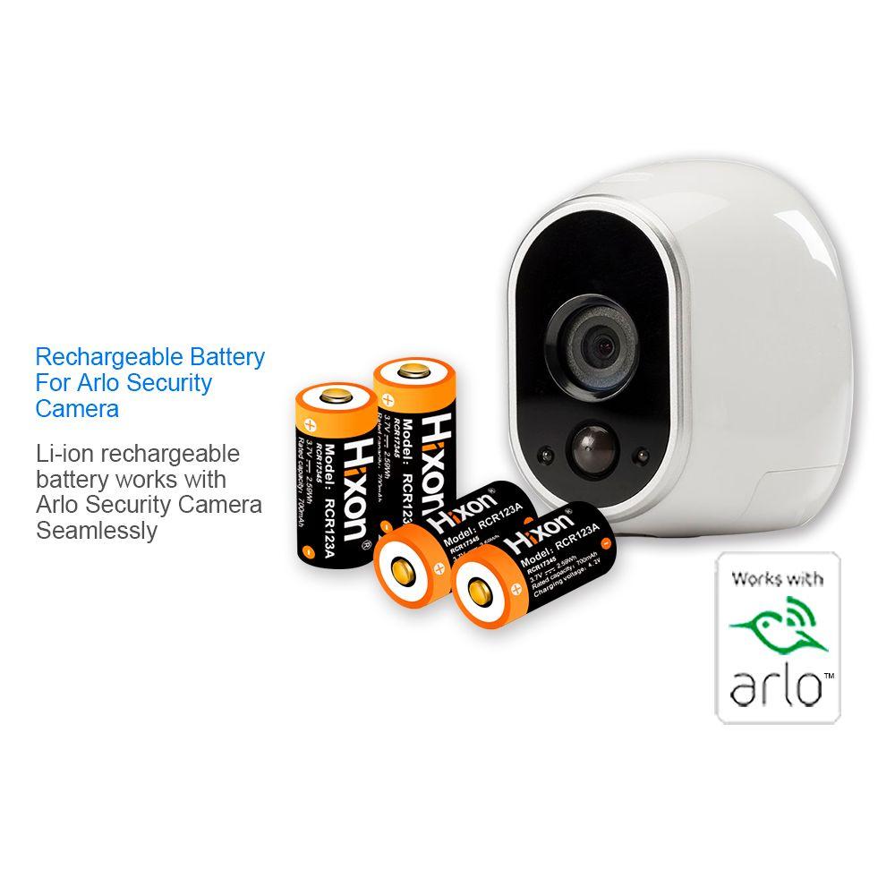 Hixon 4 stücke UL Zertifiziert 700 mAh 3,7 V RCR123A für Netgear Arlo HD Kameras und Reolink lithium-ionen wiederaufladbare Batterien