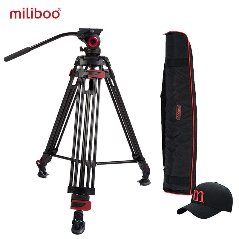 miliboo MTT603A Aluminium Portable Camera Tripod for Professional Camcorder/Video/DSLR Stand 75mm Bowl Size Video Tripod