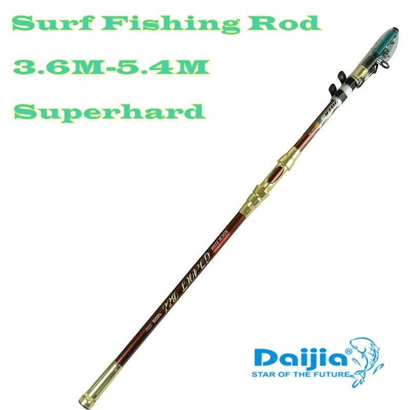 DAIJIA Genuine lightweight 3.6 / 3.9 / 4.2 / 4.5 / 5.4 m distance throwing rod sea pole superhard surf fishing rod