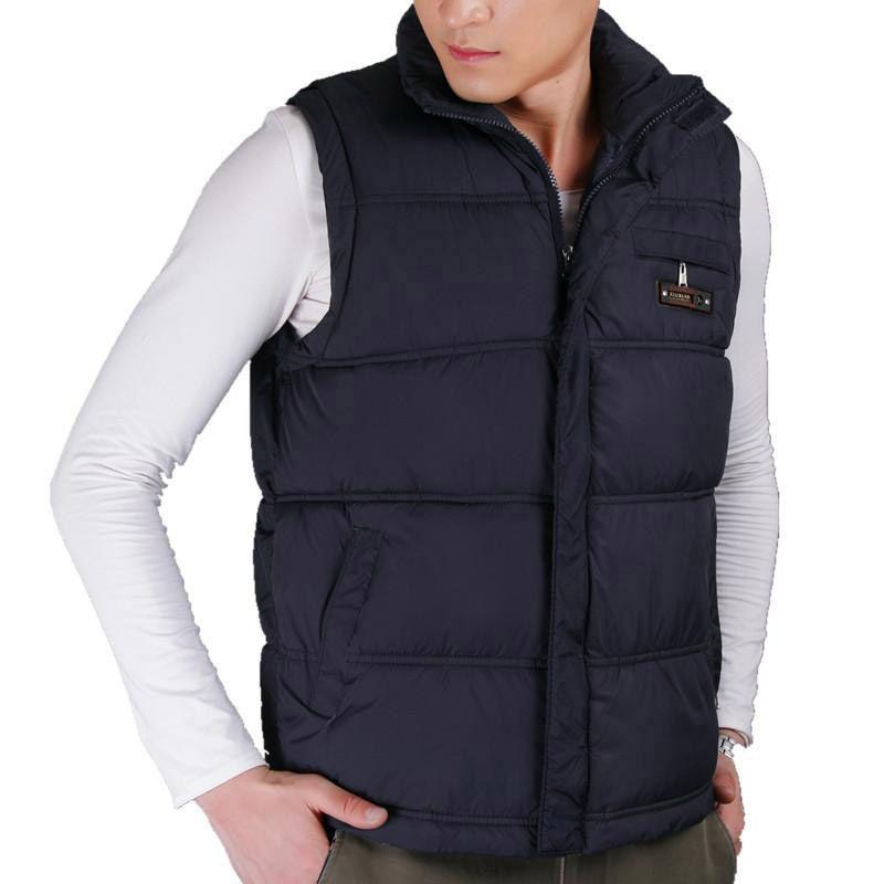 2017 best-seller hiver hommes coton gilet manteaux col Mandarin hommes chaud coupe-vent décontracté gilet grande taille XL-5XL 4 couleurs