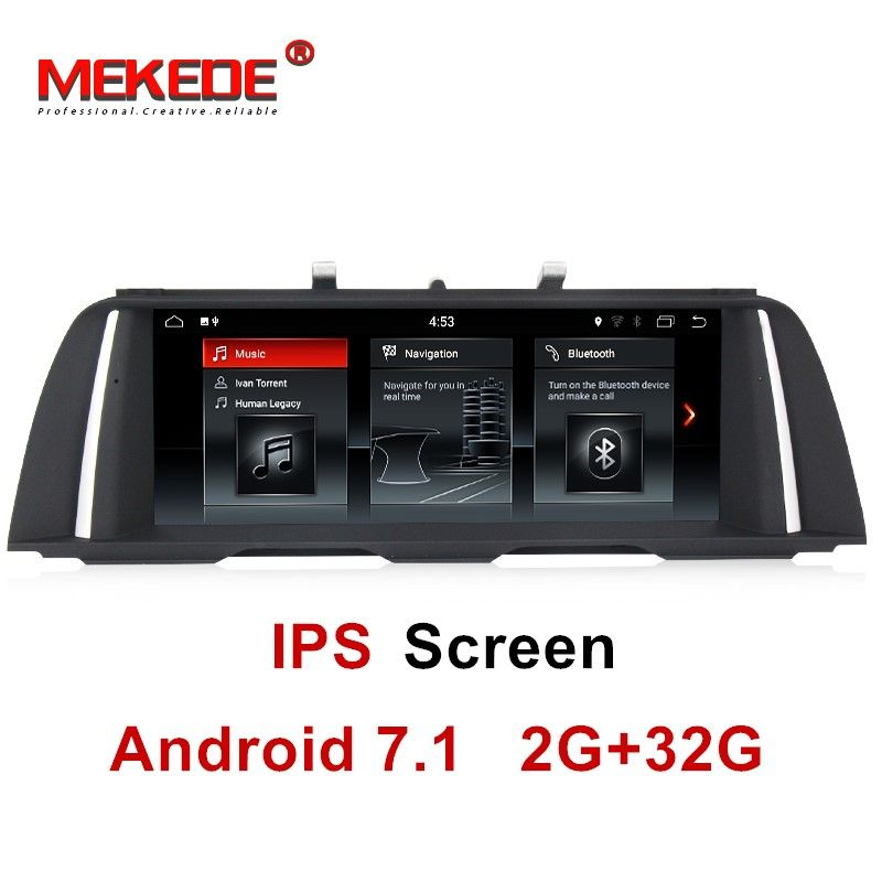 10.25inch IPS scree Quad Core android system Car Radio DVD GPS Navi for BMW 5 Series F10 F11 2011-2017 mirrorlink 2+32G CIC/NBT