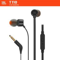 JBL T110 In-Ear Earphone Kabel/Nirkabel dengan Mikrofon Sport Musik Murni Suara Bass Headset untuk iPhone Smartphone