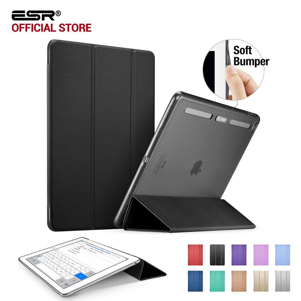 Case for iPad Pro 12.9 inch, ESR Soft TPU Corner Translucent Hybrid Back Cover Auto Wake Smart Cover Case for iPad Pro 12.9 2015
