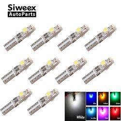 10 unids T5 LED Auto car led 3 LED SMD 3528 cuña LED Bombilla lámpara tablero instrumento blanco rosa Hielo Azul Rojo amarillo verde