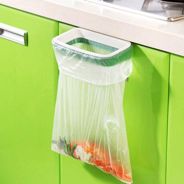 Ymjywl шкаф задняя дверь мусор стойку для хранения мусора держатель мешка Висячие Кухня Кабинета висит мусор стойку 12.5*22 см xgr0269