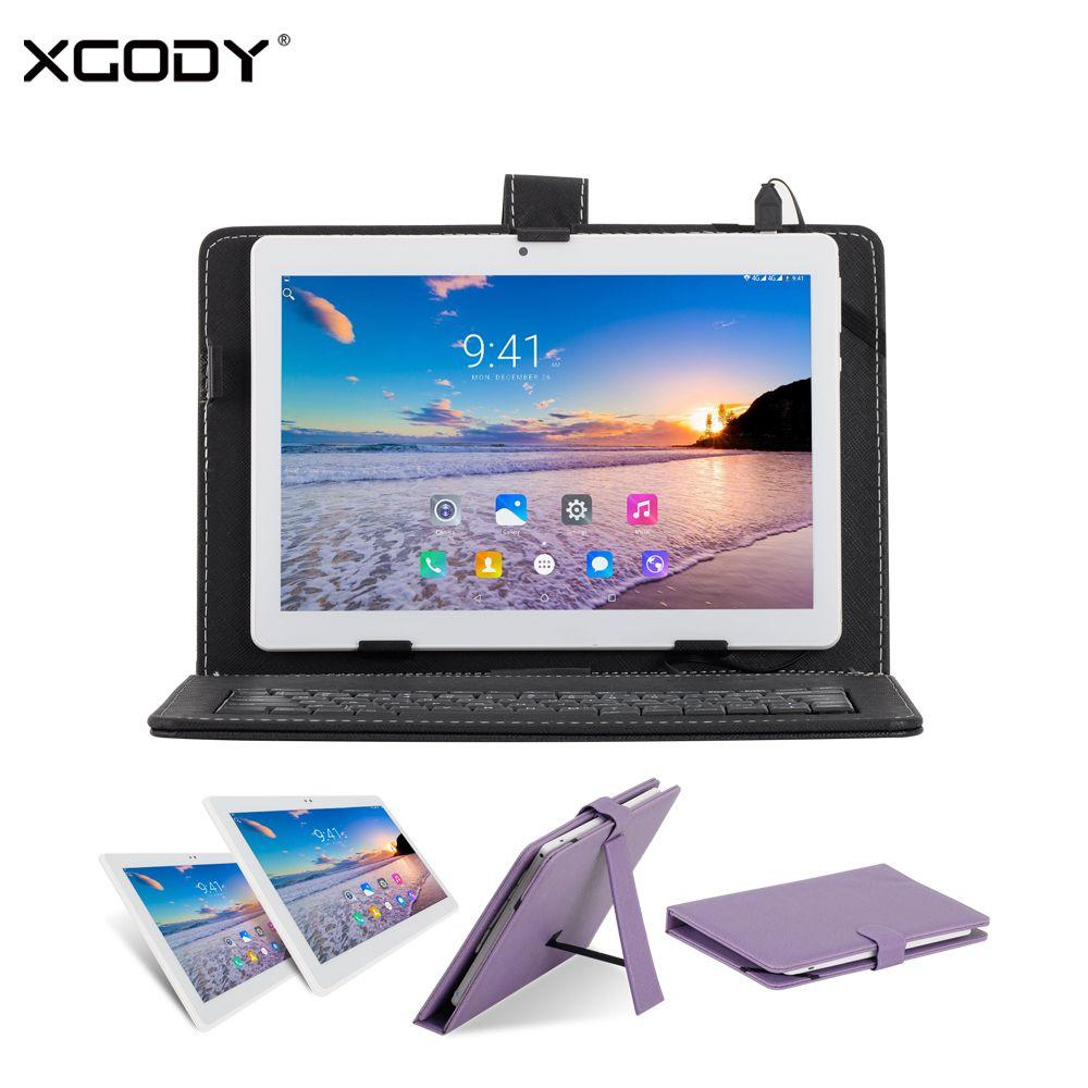 Оригинальный xgody B960 10 дюймов Планшеты PC 3G разблокировать Dual SIM МТК 4 ядра 1 г + 16 г Android 6.0 10.1 Планшеты для звонков с клавиатурой