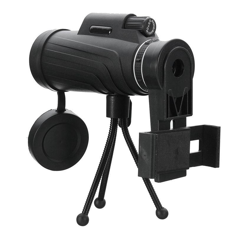 40X60 HD Zoom <font><b>Lens</b></font> Camping Travel Waterproof Monocular Telescope + Tripod + Clip for Samsung for iPhone Xiaomi Huawei
