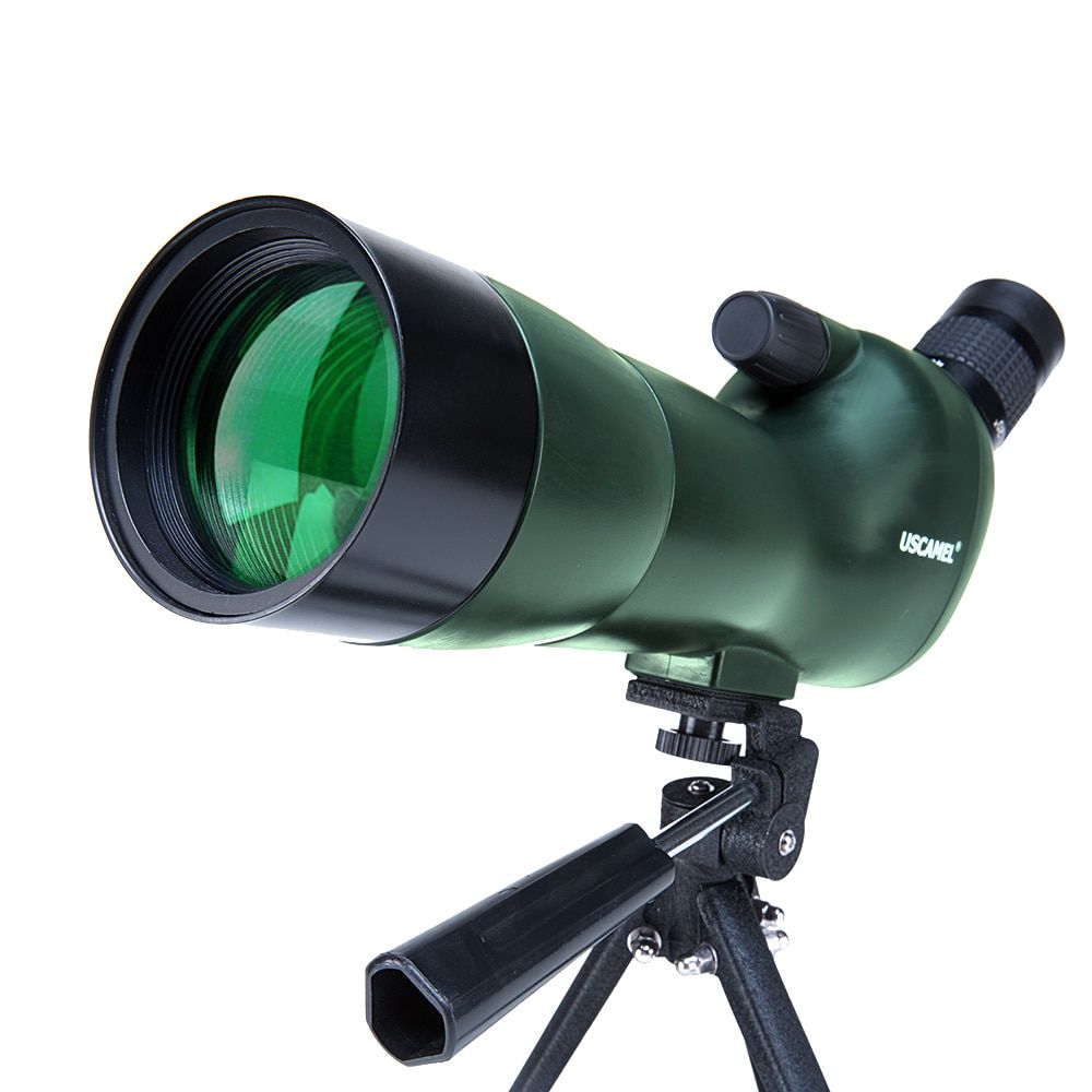 USCAMEL Bird Watching Waterproof Spotting Scope - 20-60x60 Zoom Monocular Telescope - With Tripod - with Camera Photography Ada
