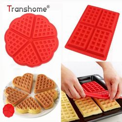 Tranhsome Silikon Waffle Cetakan Non-stick Jantung Bentuk Kreatif Muffin Kue Cokelat Cetakan Roti Alat Opal Baking Pastry Alat