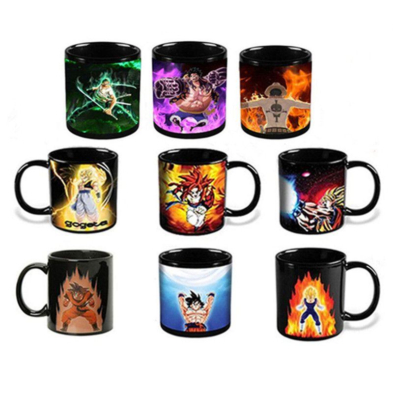 Anime Color <font><b>Change</b></font> Coffee Mug Ceramic Dragon Ball One Pieces Tea Cup Creative Drinkware