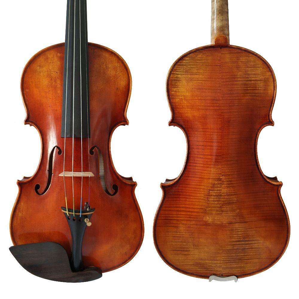 Free Shipping Copy Guarneri del Gesu 1742 100% Handmade Oil Varnish Violin FPVN05 European Wood with Foam Case and Bow