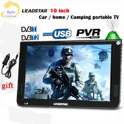 LEADSTAR-10.2 inch LED TV digital player DVB-T/T2/AC3/Analog all in one Portable TV Support USB/TF&TV programs Car charger gift