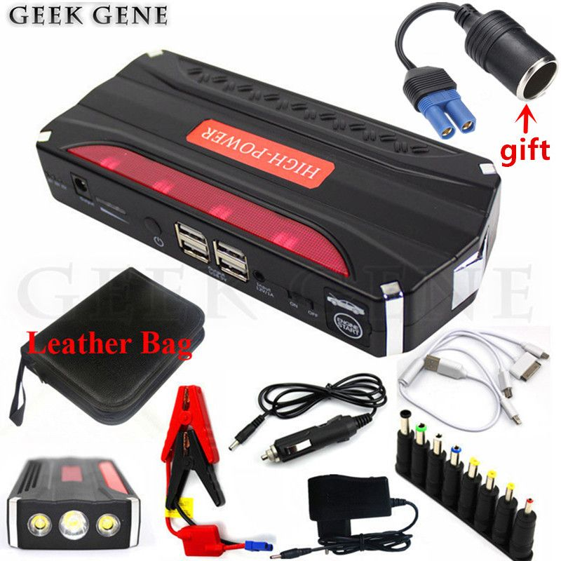 High Capacity Petrol Diesel Car Jump Starter Portable 12V 600A Car Charger For Car Battery Booster Starting Device Power Bank CE
