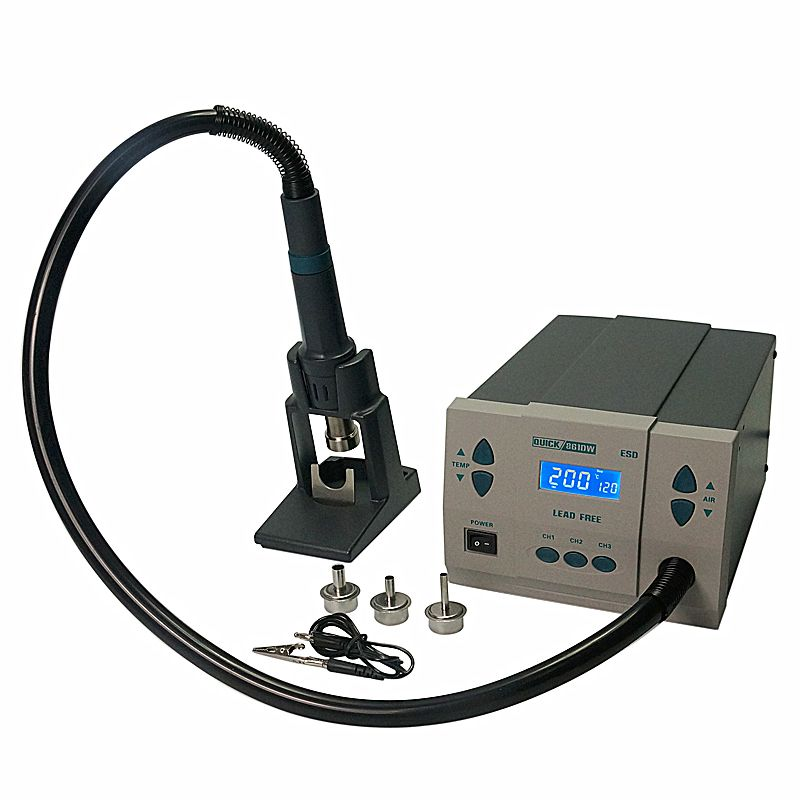 Free duty to Russian!QUICK 861DW Hot Air gun Rework soldering station for IC chip mobile phone repairing
