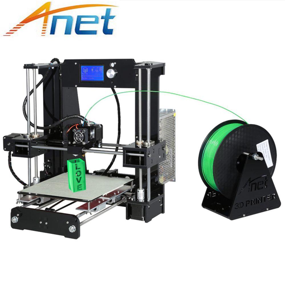 Anet A6 3D Printer DIY Large Printing Size 220*220*250mm Precision Reprap Prusa i3 DIY 3D Printer Kit with Filament+SD Card